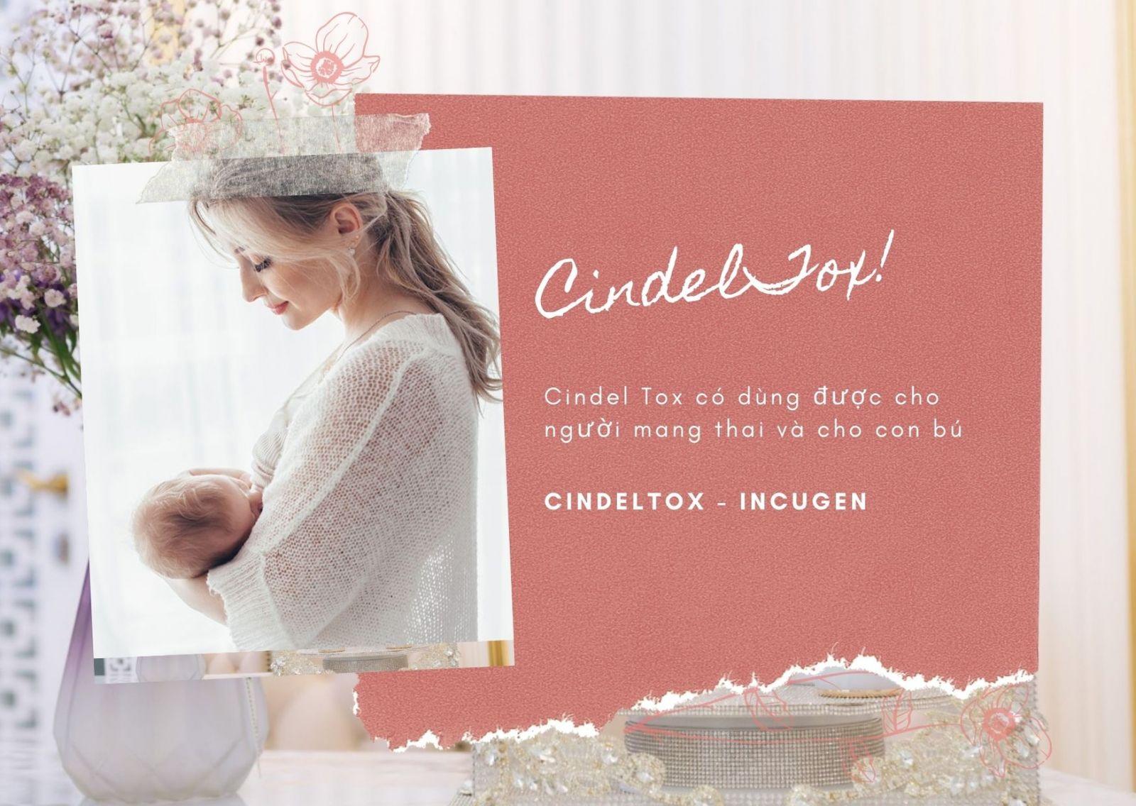 Mẹ bỉm sữa có dùng Cindel Tox khi cho con bú được không, có an toàn không?